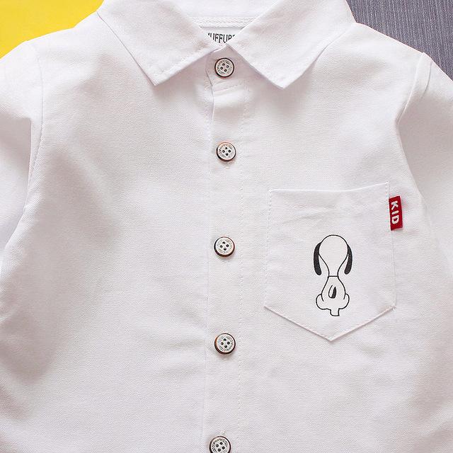 Cute Cotton Shirt with Turn-Down Collar