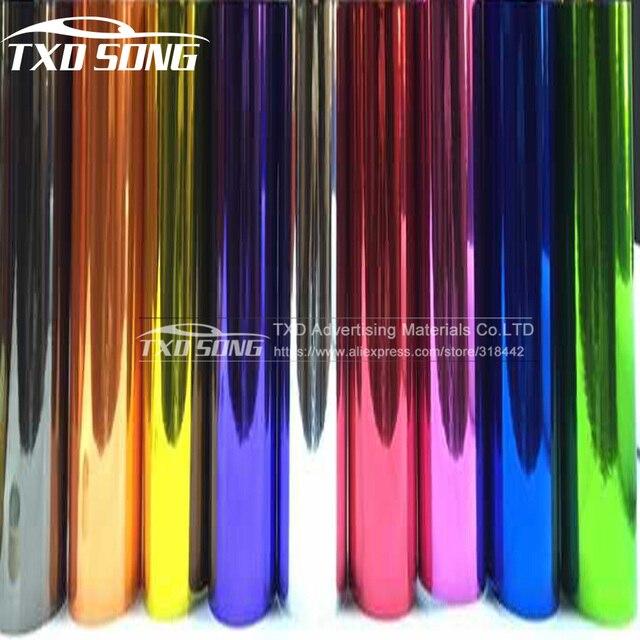 Película de revestimiento de vinilo cromado para coche, 5m/10/15m/20m, alta capacidad de estiramiento, película de revestimiento de vinilo sin burbujas