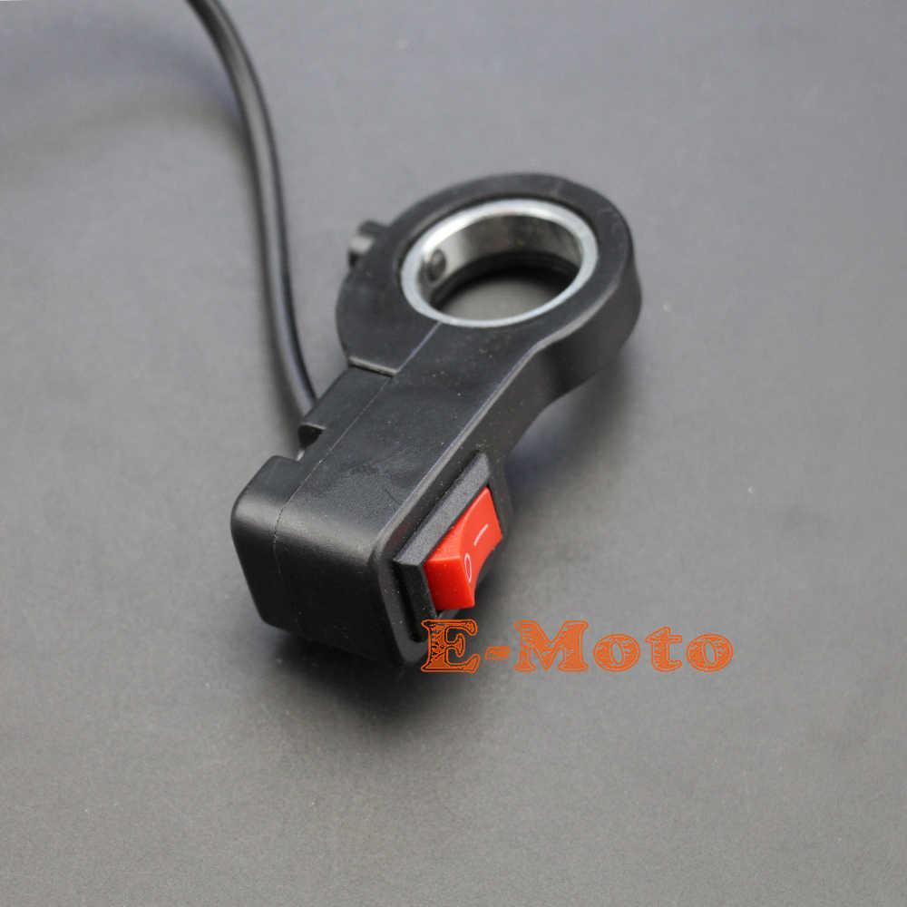 DK-04 Bot/ón de Encendido//Apagado del Manillar de la Bicicleta el/éctrica luz de la Cabeza Bot/ón de Interruptor de la bocina para Bicicleta el/éctrica de la Motocicleta