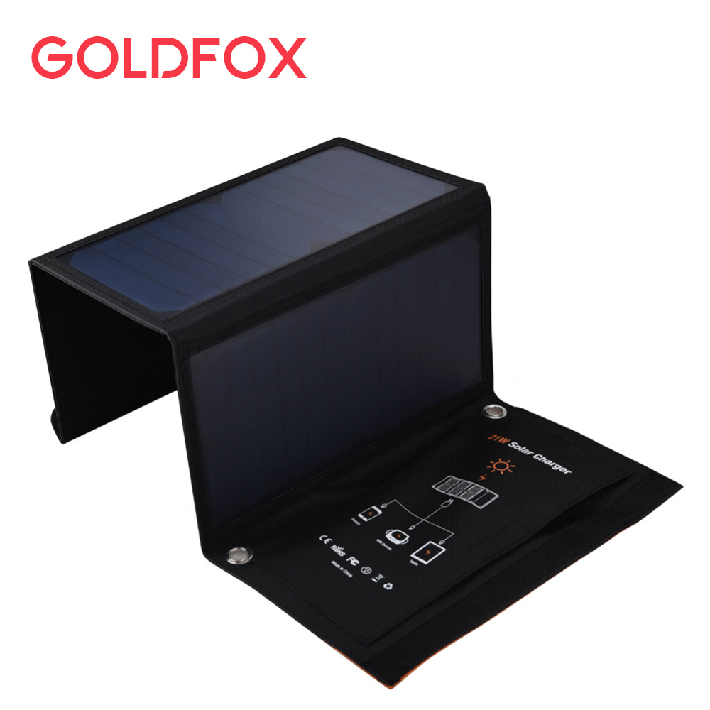 21W Outdoor Travel Folding Foldable Solar Panel Battery Charger Camera MP3 MP4 Mobile Phone Charger Solar Power For iphone 6 8 12w dual usb folding solar charger solar panel module power bank outdoor emergency cell phone charger voltage current display