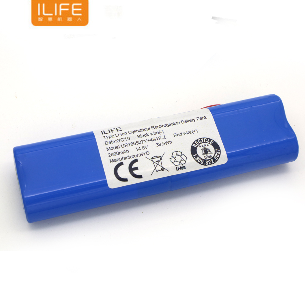 High Quality Rechargeable ILIFE Ecovacs Battery 14.8V 2800mAh Robotic Cleaner Accessories Parts For Chuwi Ilife V50 V55 V8s