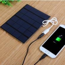 Новинка 3,5 Вт солнечное зарядное устройство поликристаллическая солнечная батарея солнечная панель USB Солнечное мобильное зарядное устройство для внешнего аккумулятора