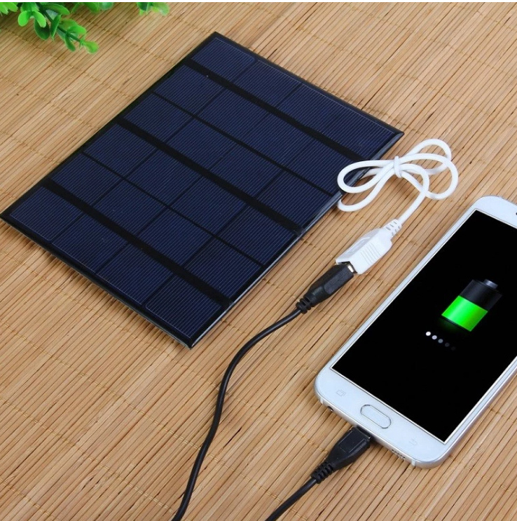 New 3.5W Solar Charger Polycrystalline Solar Cell Solar Panel USB Solar Mobile Charger For Power Bank 14w solar charger dual usb output solar cell solar panel 12v ourdoor camping charger for laptop bluetooth headset ipod and more
