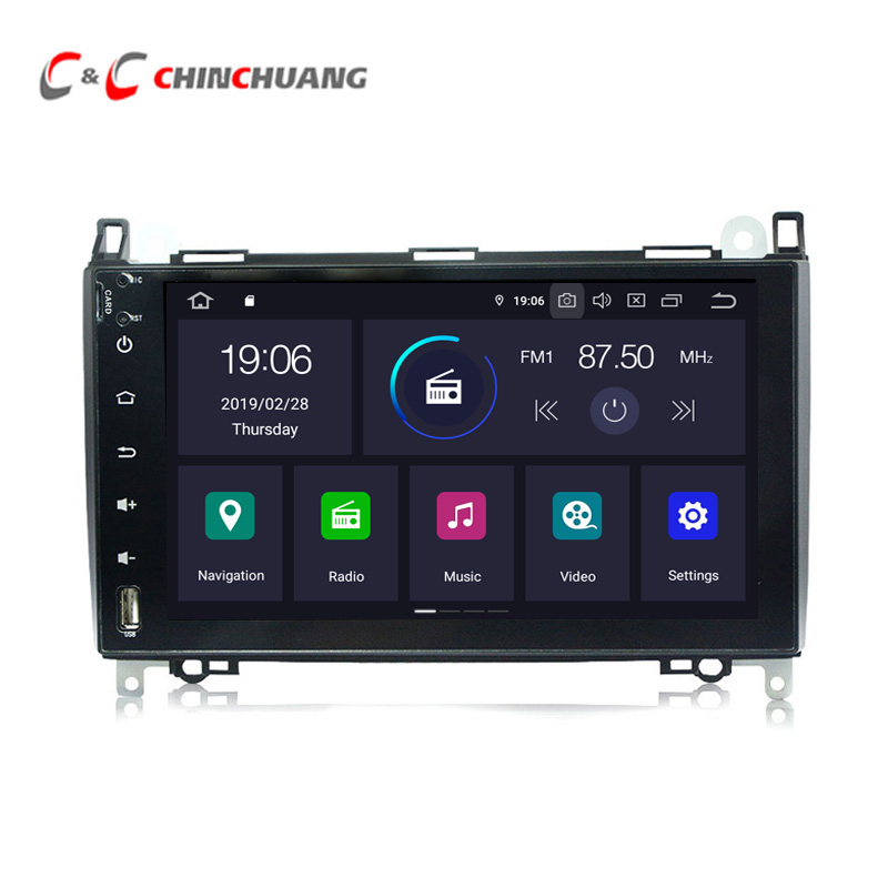 Android 9.0 <font><b>Car</b></font> Multimedia Player for <font><b>Mercedes</b></font> Benz CLK C Class W203 S203 C180 C209 <font><b>W208</b></font> <font><b>Radio</b></font> RDS <font><b>GPS</b></font> DVR Wifi 4G Auto Audio image