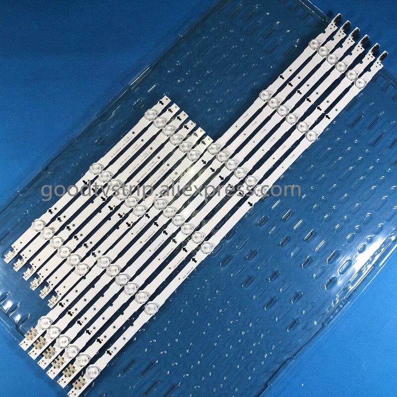Led Backlight Strip D4ge-480dca-r2 D4ge-480dcb-r2 For Samsung 48inch Tv Ue48h6470 2014svs48f Agreeable To Taste 6*3led+6*6led Fast Deliver 12 Pcs