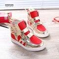 Koovan crianças botas primavera 2017 crianças novas do bebê das meninas dos meninos paetês asa casual sports sneakers crianças shoes bling execução fly