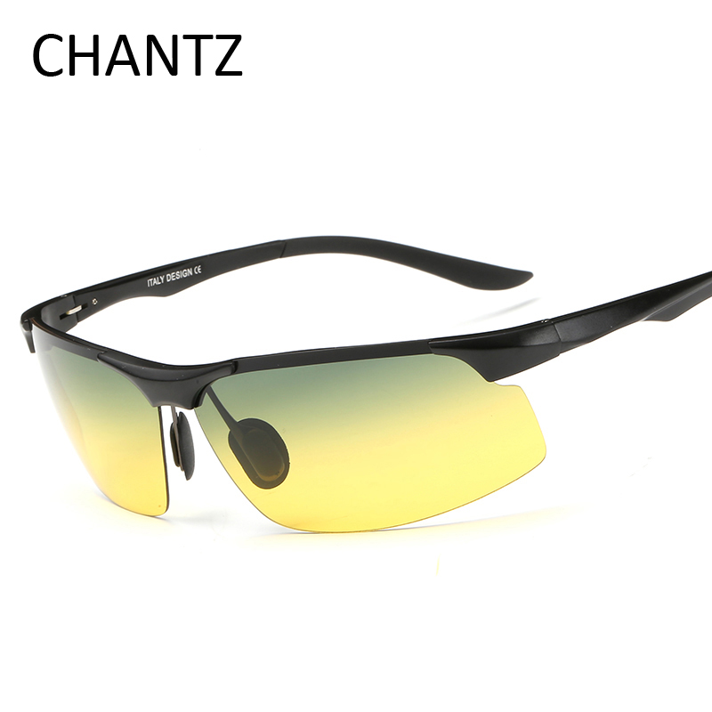 Night Vision Glasses Men Brand Designer Polarized Driving Sunglasses With Aluminium Magnesium Alloy Frame font b