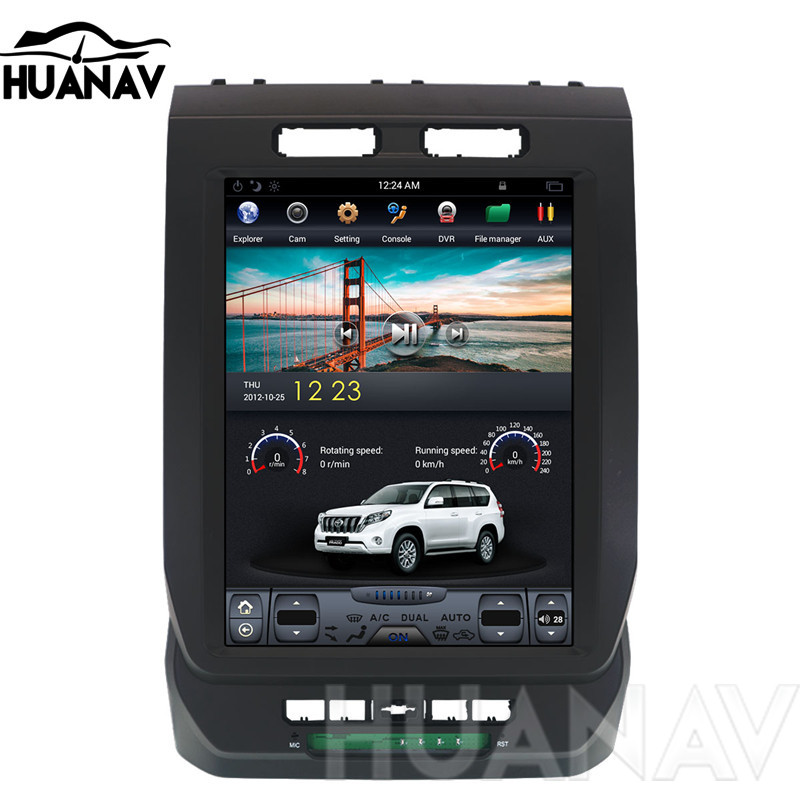 Android Tesla style Car No DVD Player GPS Navigation For Ford F150 2015 2018 car multimedia radio player tape recorder Head unit
