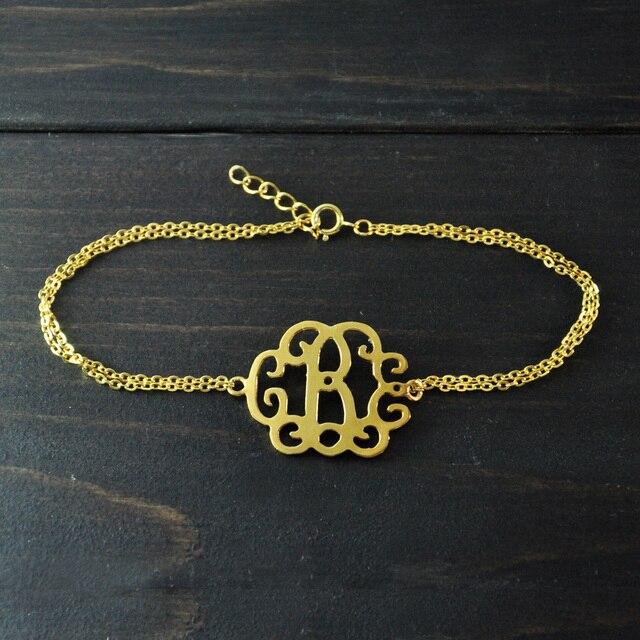 Custom Monogram Bracelets Personalized Initials Bracelet Jewelry