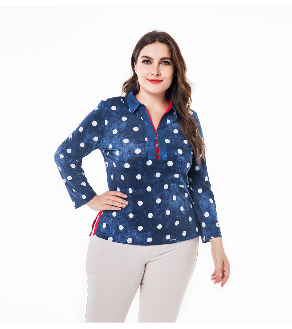 Miaoke Long Sleeve Polo Shirt Women 2018 Fall Clothing For Women