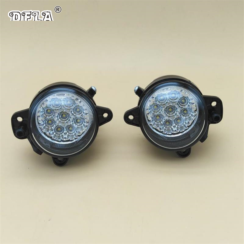 где купить 2pcs Car Led Light For Skoda Fabia MK1 Facelift 2005 2006 2007 2008 Car-Styling Front Bumper 9 LED Fog Lamp Fog Light по лучшей цене