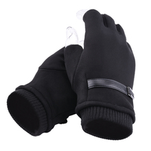 Winter Gloves Warm Car Driving Men Half Finger D20