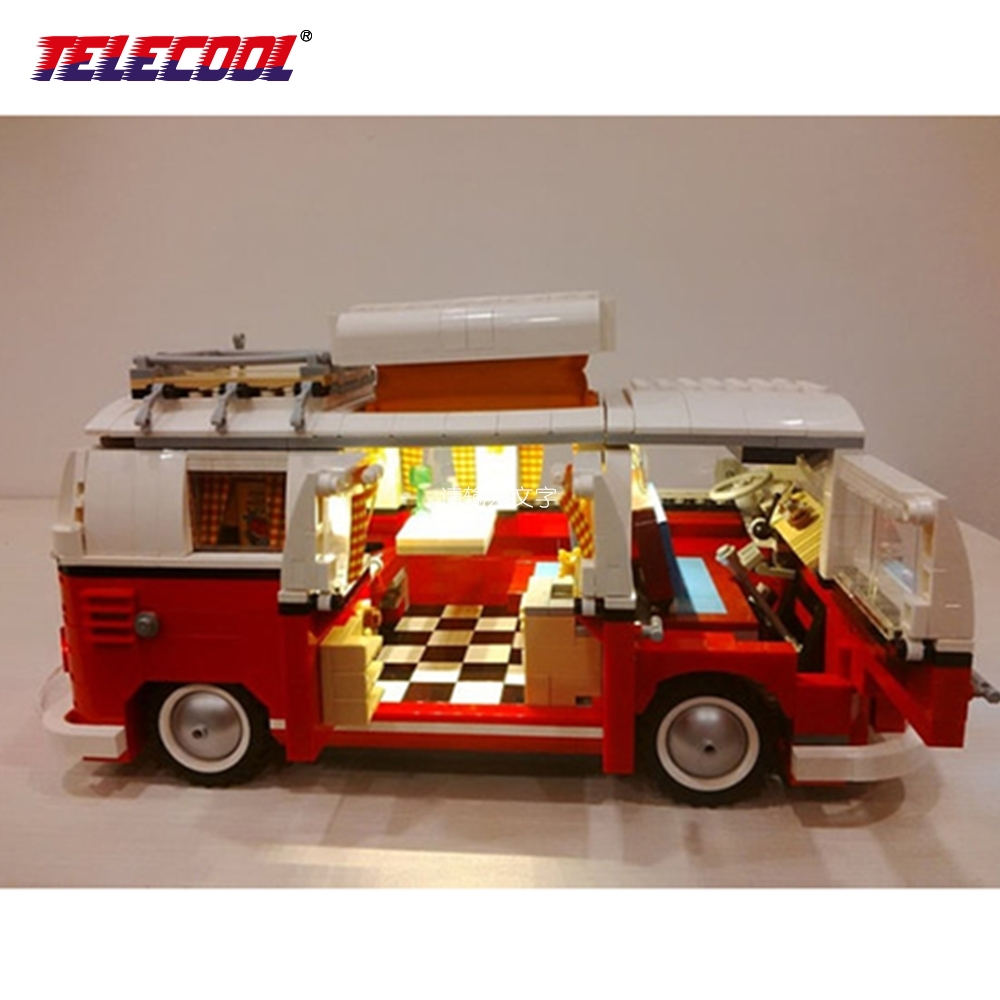 TELECOOL LED Light Building Blocks Toy (Only Led Light Set) For Creator Series The T1 Camper Van Model Model 10220 telecool led light building blocks toy only light set for creator series the t1 camper van model lepin 21001 and brand 10220