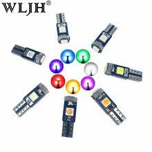 WLJH 10x 7 Colors Canbus T5 LED 3030 SMD Car Gauge Cluster Key Ring Sunvisor Shifter Light Bulb Instrument Panel Lamp 12V