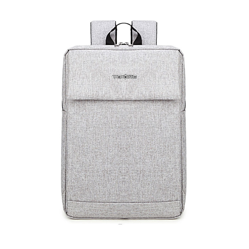 2016 New 15.6 Laptop Backpack Schoolbag Female Fashion Casual Gray Bags Simple Preppy Style School Bag for Women and Men Mochila fashion denim backpack preppy style casual shoulders double shoulder bag schoolbag style blue x 59966