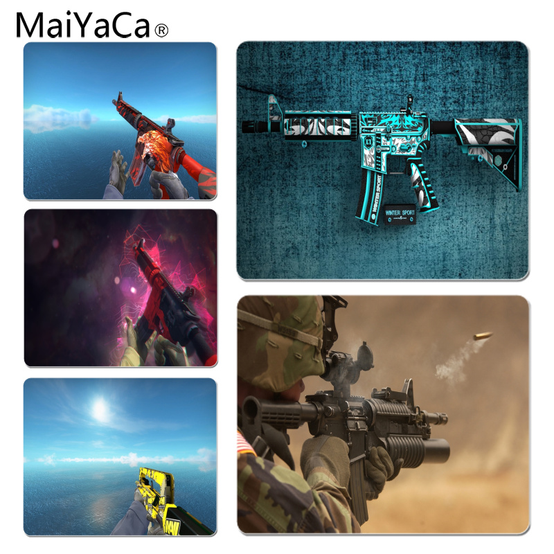 MaiYaCa Cool New AK47 M4A4 Large Mouse pad PC Computer mat Size for 180x220x2mm and 250x290x2mm Rubber Mousemats