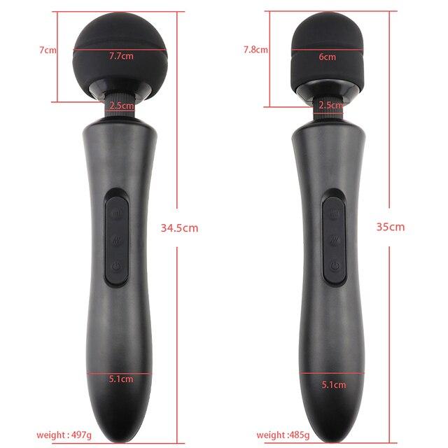 Rechargeable AV Wand Vibrator for Women Body Massages Adult Sex Toys for Women Clitoris Stimulate Couples Flirting Sex Shop 6
