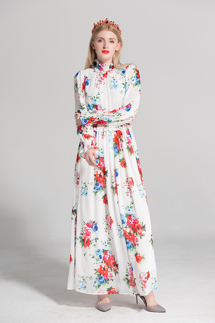 e260812833 Retro Palace Print Women 3Pieces Sets 2018 Spring Fashion New Turn-Down  Collar Shirt+Sashes Pleated Mini Skirt+Elastic Slim PantUSD 51.35 piece