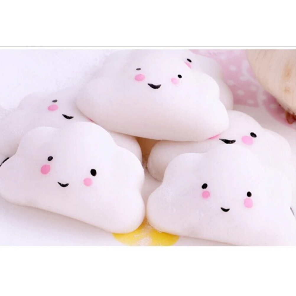 Mobile Phone Accessories Beautiful 3pcs Kid Toy Hobbie Gift Soft Ushihito Kawaii Cute Squishy Press Slow Rising Mini Small Cloud Squeeze Phone Straps Bread Cake