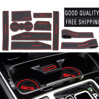 For Land Rover Evoque 8Pcs/Set car Accessories3D Rubber Car Mat Car Anti Slip Mat Non slip Mat Interior Door Pad Door Groove Mat