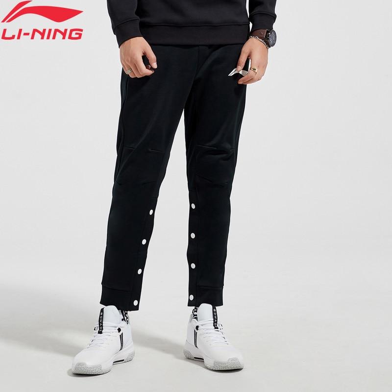 Li-Ning Men BAD FIVE Basketball Pants Fleece Warm Comfort Buttons Pockets Design LiNing Sports Pants AKLN877 MKY425