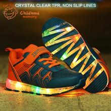 2016 Baby Shoes Spring Autumn New Luminous Colorful LED Lighted for Baby Boys Girls Baby Sneakers Chaussure Enfant