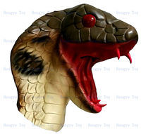 2013 Top Sell Newly Design Deluxe Quality Realistic Cobra King Of Snakes Party Dress Masks Adult