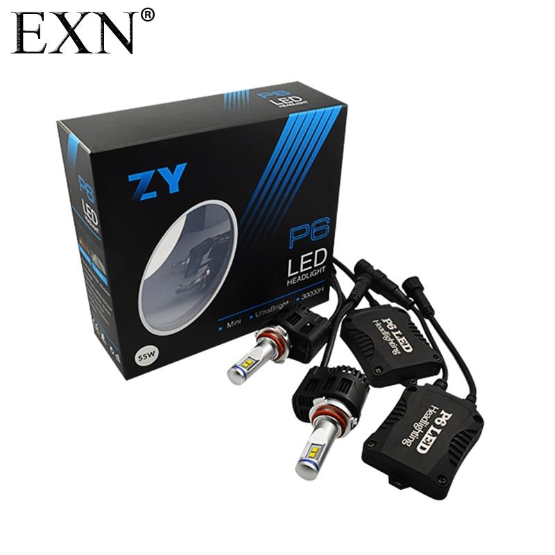 P6 9006 High Quality 55W 5200LM LED Headlight Kit HB4 LED Headlight Conversion Kit Bulbs 9006 High Chips LED Bulb 6000K 5000K