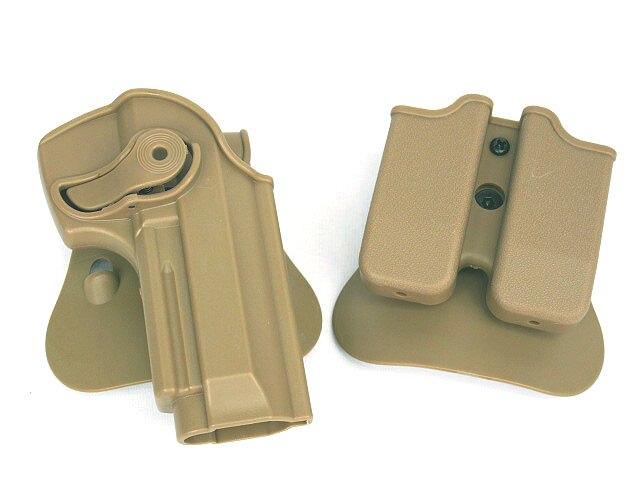 방수 폴리머 보유 로토 홀스터 및 더블 매거진 홀스터 92 / 96 / M9 용 사냥 용 액세서리