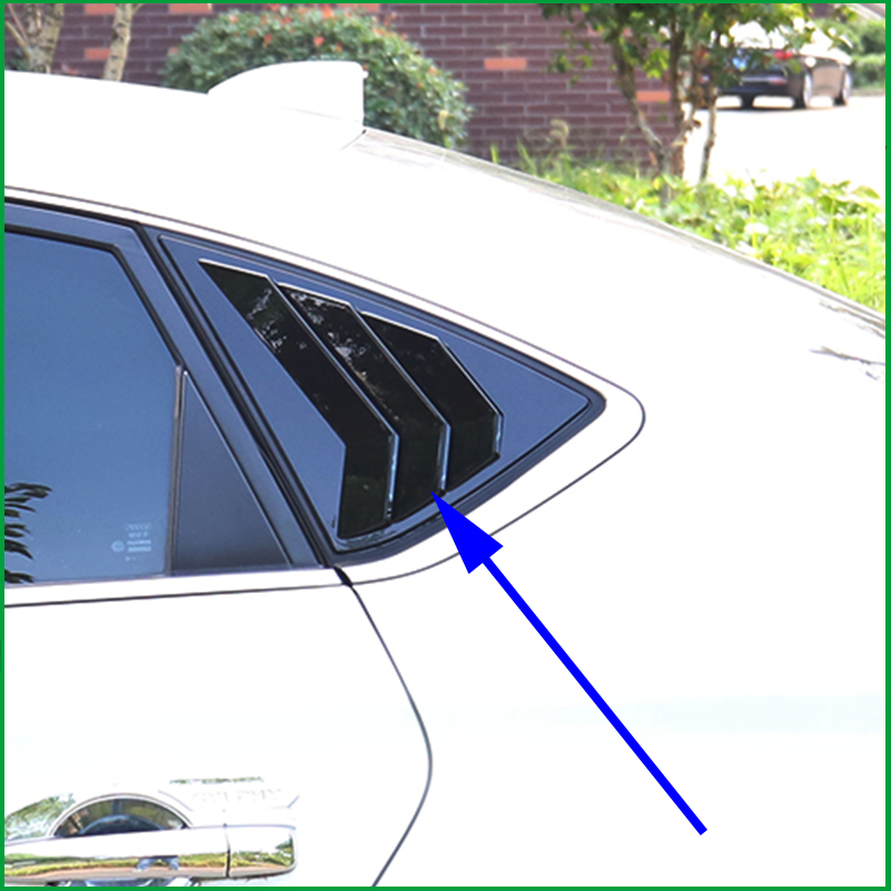 Us 39 56 14 Off For Nissan Sentra Sylphy Sedan 2017 2018 Abs Rear Side Window Shades Louver Frame Blinds Cover Sticker Trim In Chromium