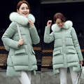 Maternity Coat Women Winter Down Jacket Warm Long Coats Girls White Duck Down Goose Down Parka Plus Size Big Fox Fur Hoody Warm