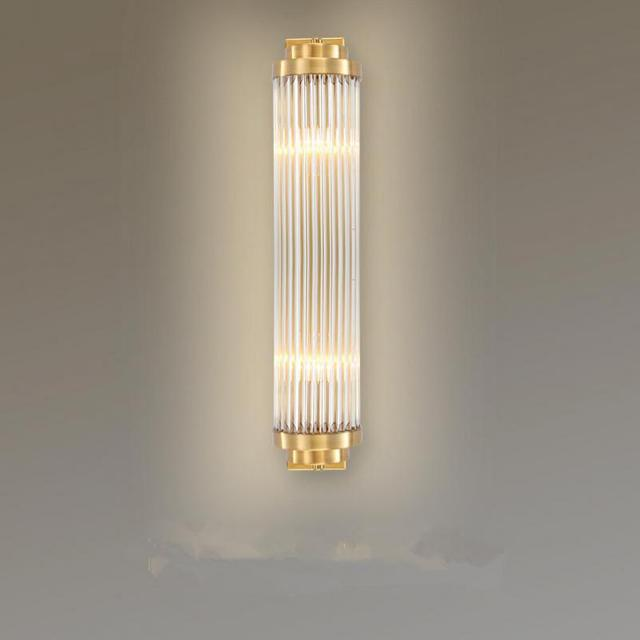 Living Room Large Vertical Crystal wall Light sconce hotel big Led wall Fixtures Foyer Nordic Long glass crystal Bar Wall Lamps