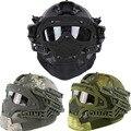 Multifunción Tactical Paintball Casco Rápido con Protección máscara, Gafas y sistema G4