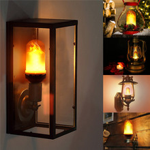 E26 E27 LED Flame Effect Fire Light Bulb SMD2835 Flickering Decorative Flame Lamp 1200K AC85V~265V