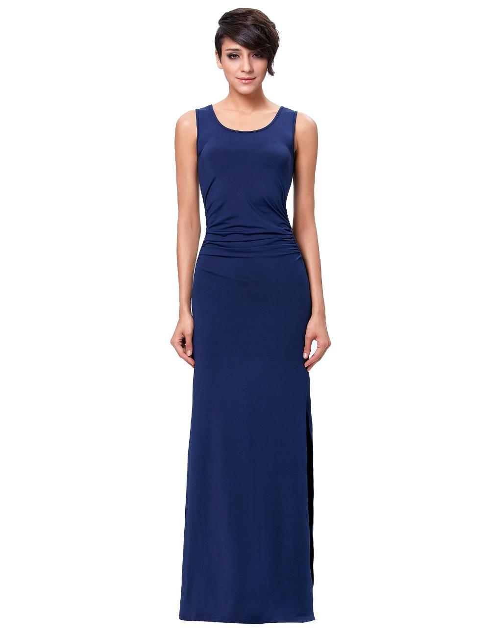 Navy Blue Long Dresses for Women