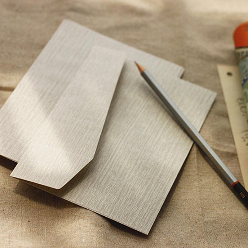 Ruoyu Elegant Paper Envelope Vintage Envelope Graffiti Antique Wood Notepaper Knowledge Ash 10pcs/lot 17*12cm