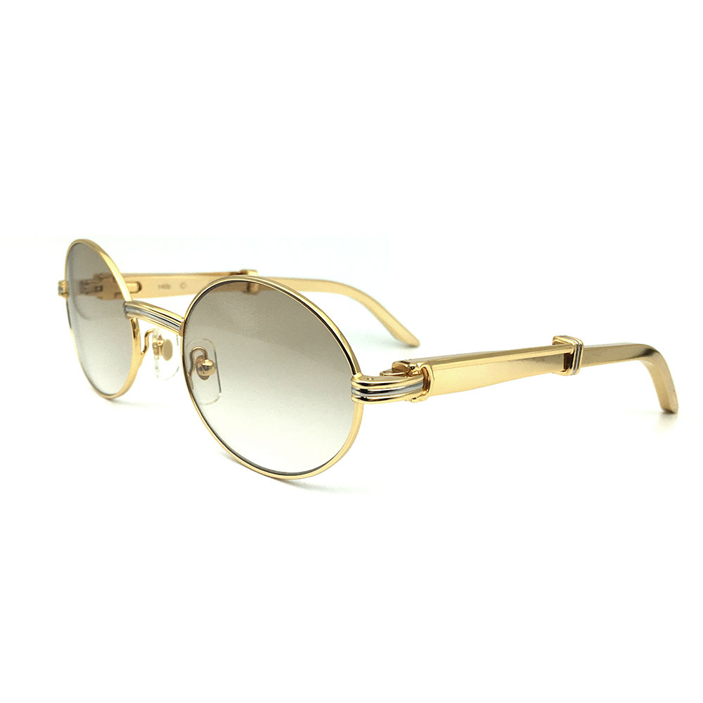 Marque de luxe Designer Carter Lunettes Hommes En Acier Inoxydable Optique Cadre Or lunettes de Soleil Pour Femmes Rondes Lunettes De Soleil Pour Hommes
