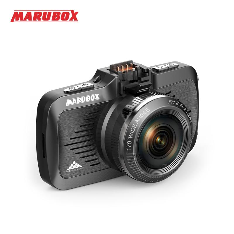 Видеорегистратор с GPS-информатором,Marubox M330GPS,GPS/GLONASS информатор о стационарных камерах и маломощных радарах, разрешение видеозаписи до 2304х1296P...