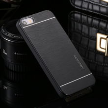 Ultra Thin Motomo Aluminum Brush Hard Metal Case for iPhone 4 4S 5 5S SE 6