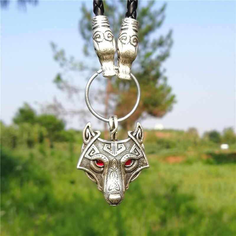 Волчья Голова с волком Ворон подвеска в виде топора ожерелье мужские этнические языческие Викинг ювелирные изделия Прямая поставка