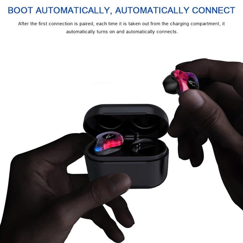 Di notte Banchetto X12 Pro Mini Bluetooth Auricolare Luminoso auricolare Bluetooth mini sport auricolare con Scatola di carico