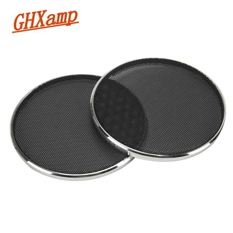 GHXAPM 2 STÜCKE 4 zoll Hochtöner Lautsprecher Grill Mesh Netting Schutzhülle DIY Galvani Silber