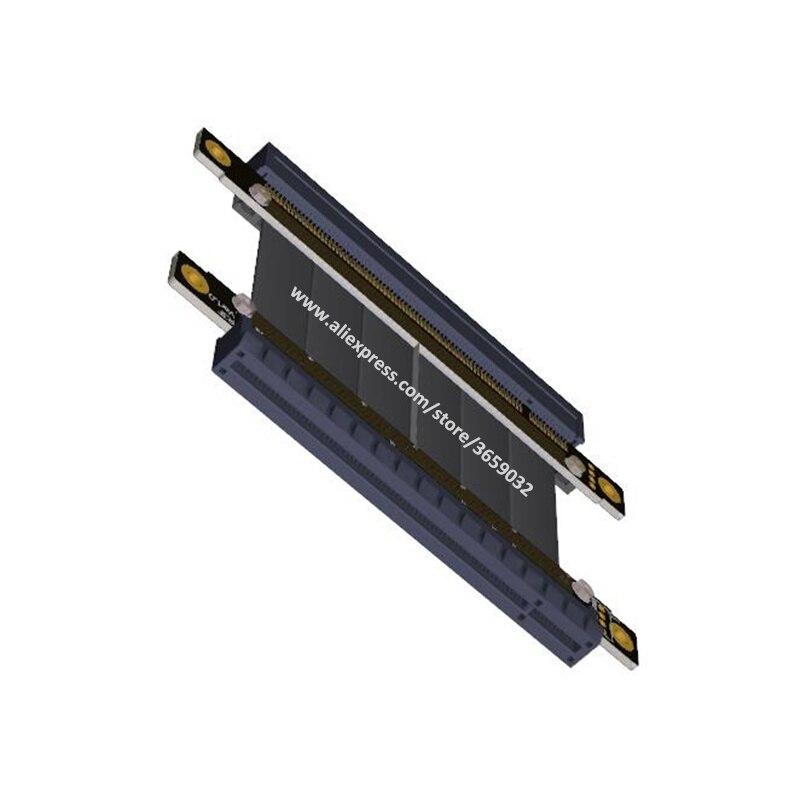 Купить с кэшбэком Riser PCIE Gen3.0 16x to 16x 128G/bps female to female Graphic card pci e PCI-E pci express riser card x16 to x16 Extender cable