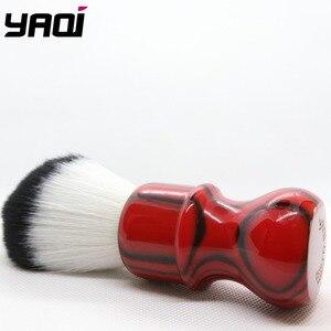 Image 4 - Yaqi רעה זברה 26mm קשר שחור ואדום ידית סינטטי שיער גילוח מברשת