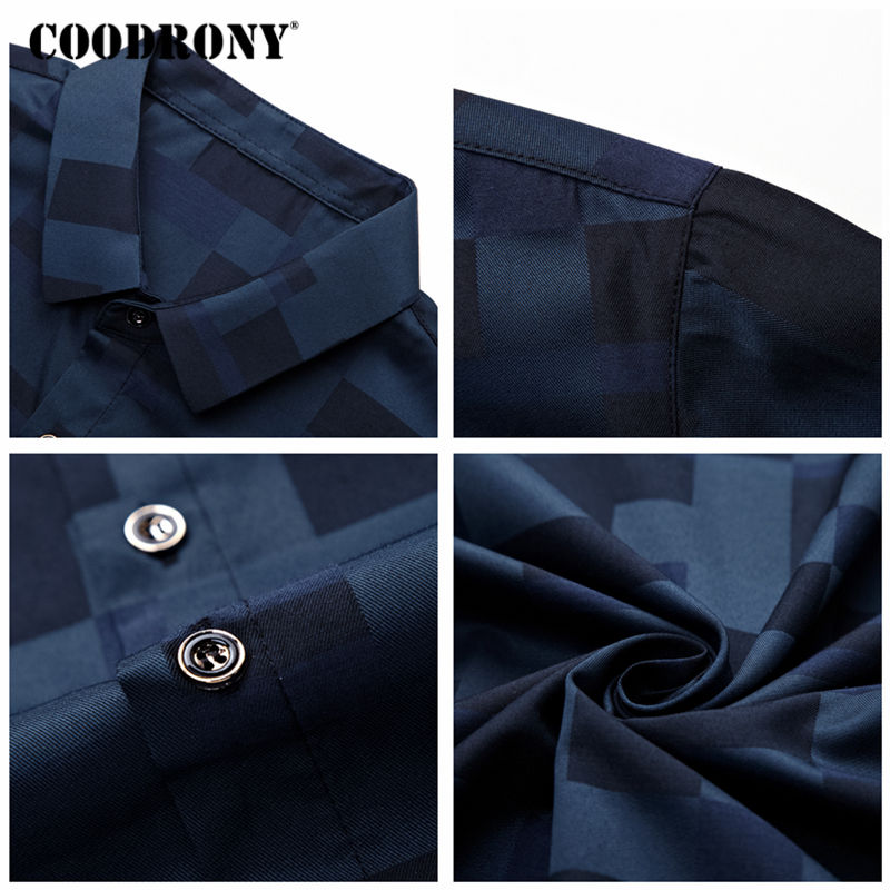 COODRONY Short Sleeve Shirt Men Clothes 2019 Summer Mens Shirts Casual Slim Fit Plaid Camisa Masculina Cotton Chemise Homme 8701 5