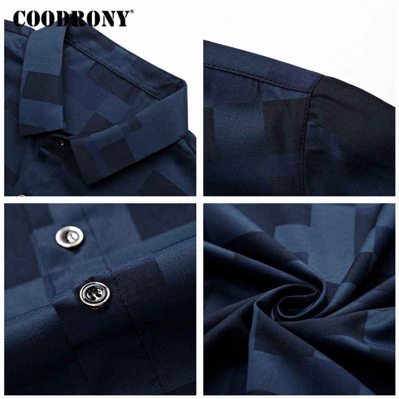 COODRONY Breve Camicia Del Manicotto Degli Uomini Vestiti 2019 di Estate del Mens Camicette Casual Slim Fit Plaid Camisa Masculina Cotone Chemise Homme 8701
