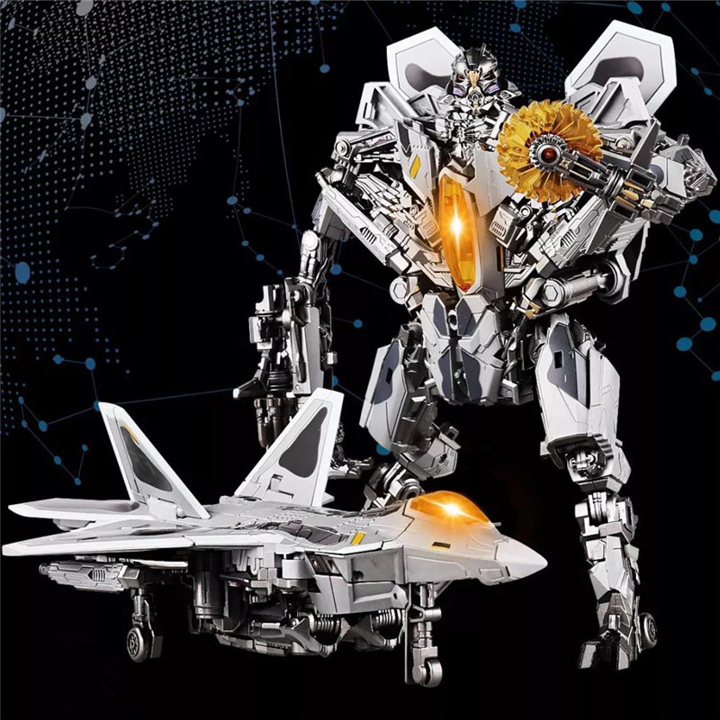 New HEIMANBA LS01 LS02 LS04 Transformation Toys Oversize Action Figure Robot Plane Figure Model Deformation Toys