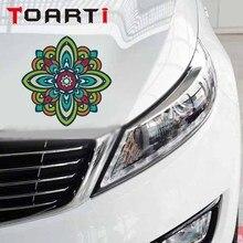 Yoga Mandala Lotus Flower Car Sticker Removable Vinyl Car-Styling Decal For Window Motorcycle Diy Waterproof Accessories