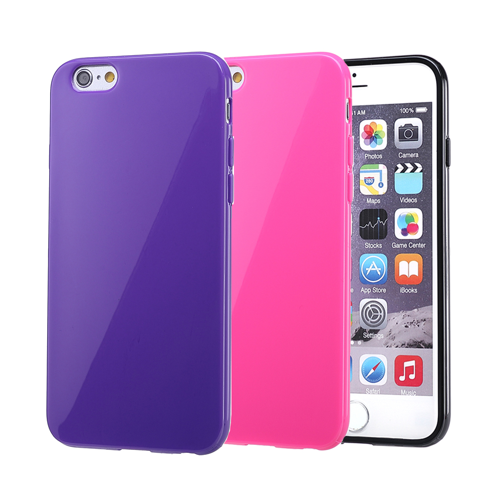 Fashion Simple Solid Color Soft TPU Slim Coque Cover Case for Apple ...