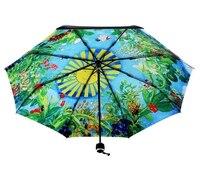 Hot Sale The Elven Kingdom Totoro Sun/Rain Umbrella Upscale Vinyl Printing Black UV Parasol Outdoor Windproof Bumbershoot